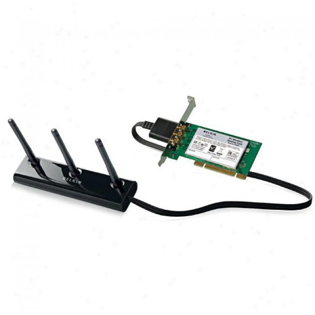 Belkin F5d8001 Wireless-n N1 Pci Desktop Adaptr