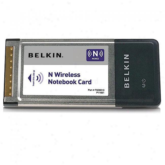Belkin F5d8013 Wireless-n Pc-card Notebook Adapter