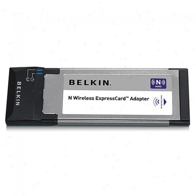 Belkjn F5d8073 Wireless-n Pc-e Pc-card Express Notebook Adapter