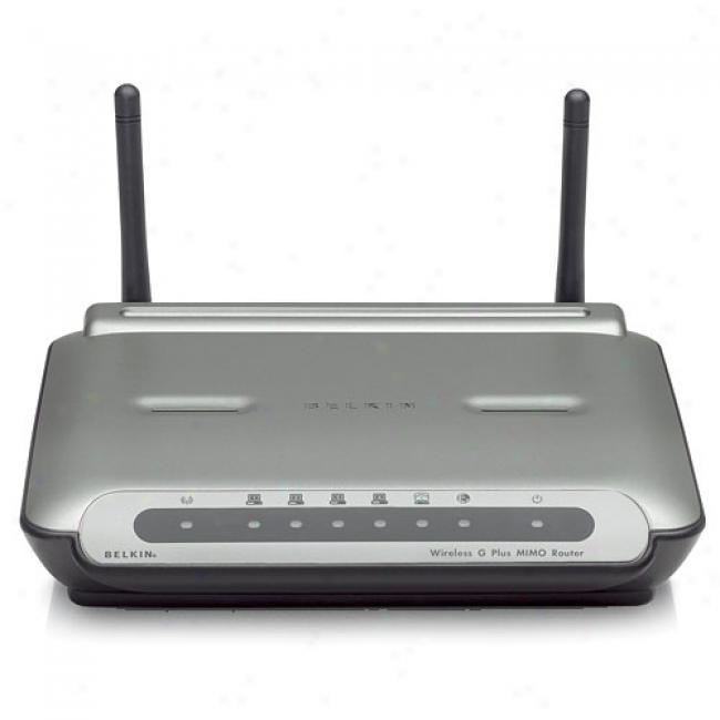 Belkin F5d9230-4 Wireless-g Plus Mimo Broadband Router