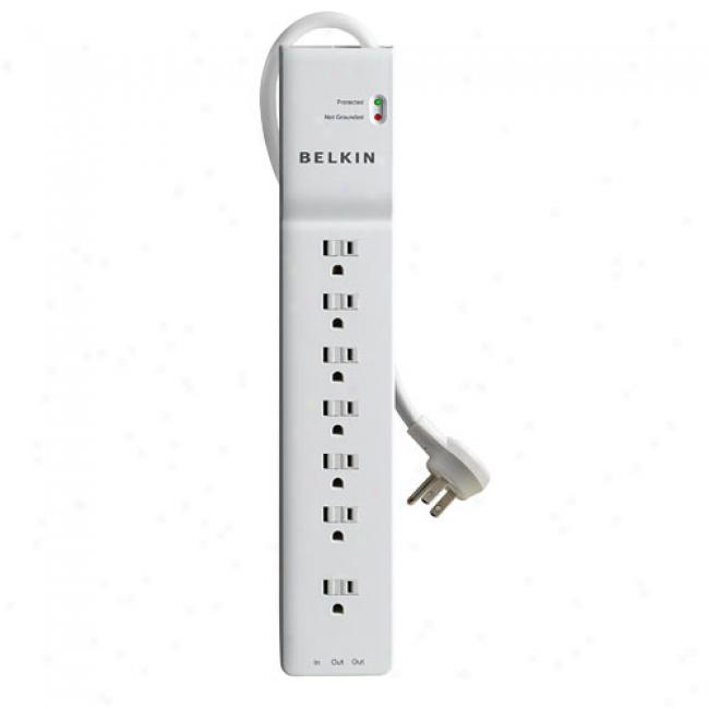 Belkln Home/office Series 7-outlet Surge Protector With 6' Cord
