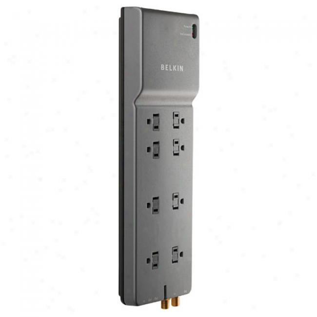 Belkin Home/office Series 8-outlet Surge Protector W/ Coaxial Protection