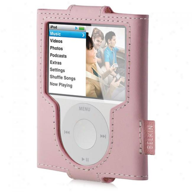 Belkin Leather Sleeve For Ipod Nano 3g, Cameo Pink