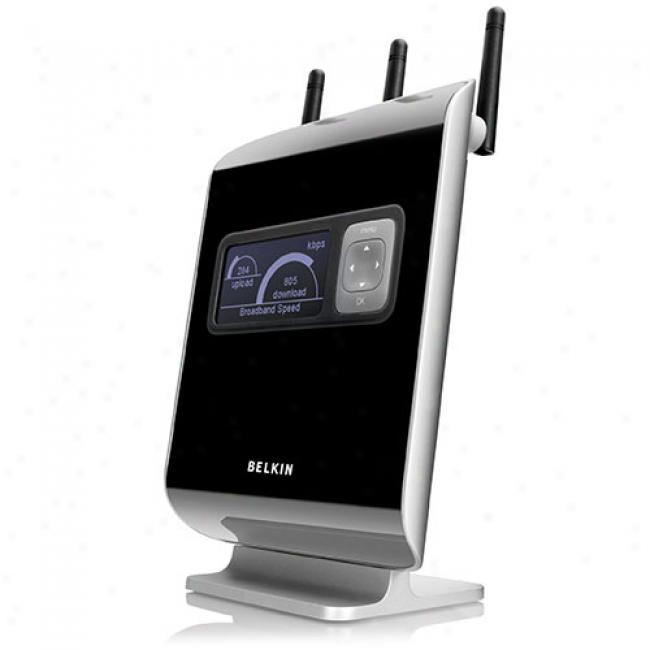 Belkin N1 Vision Wireless N & G Broaband Router With Lcd Sieve