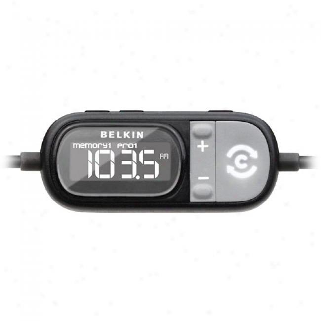 Belkin Tunecast Fm Transmitter/charger For Iphone Or Ipod