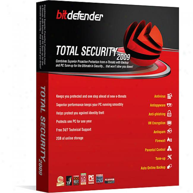 Bitdefender Total Security 2009 1 Yr / 1 Pc