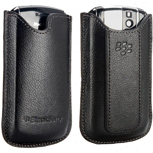 Blackberry Leather Vertical Pouch Pocket For Pearl 8100