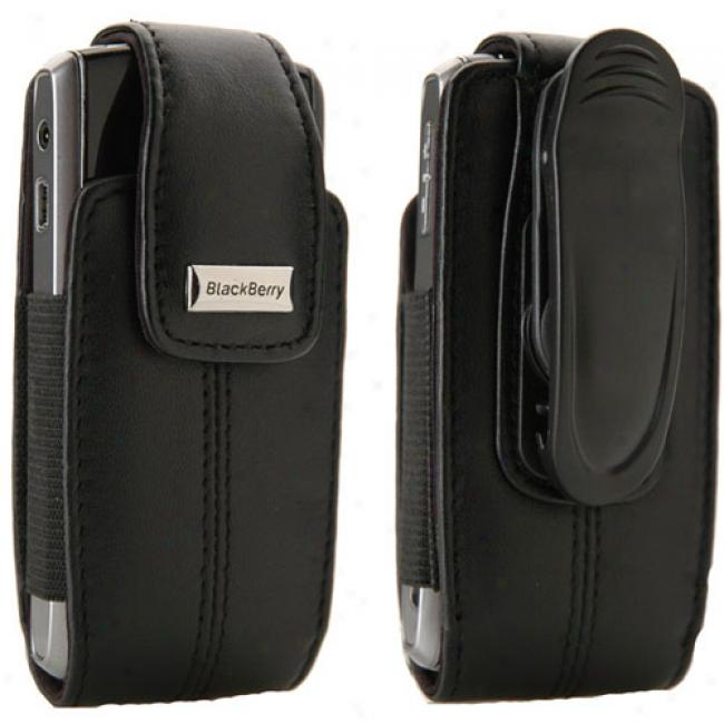 Blackberry Leather Vertical Pouch With Belt Clip
