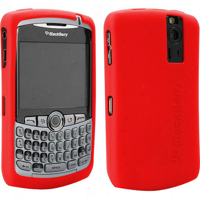 Blackberry Rubber Skin Case For 8300 Series - Red