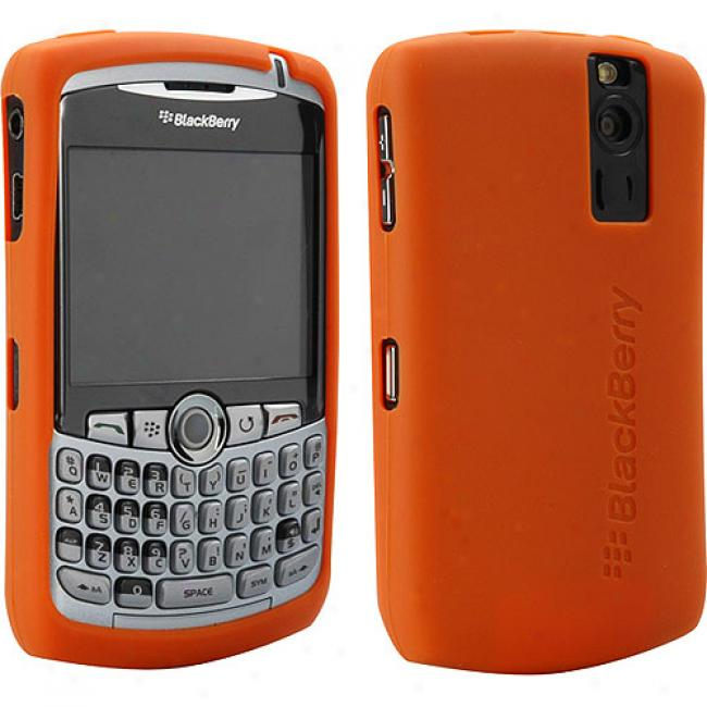 Blackberry Rubber Skin Case For 8300 Succession - Orange