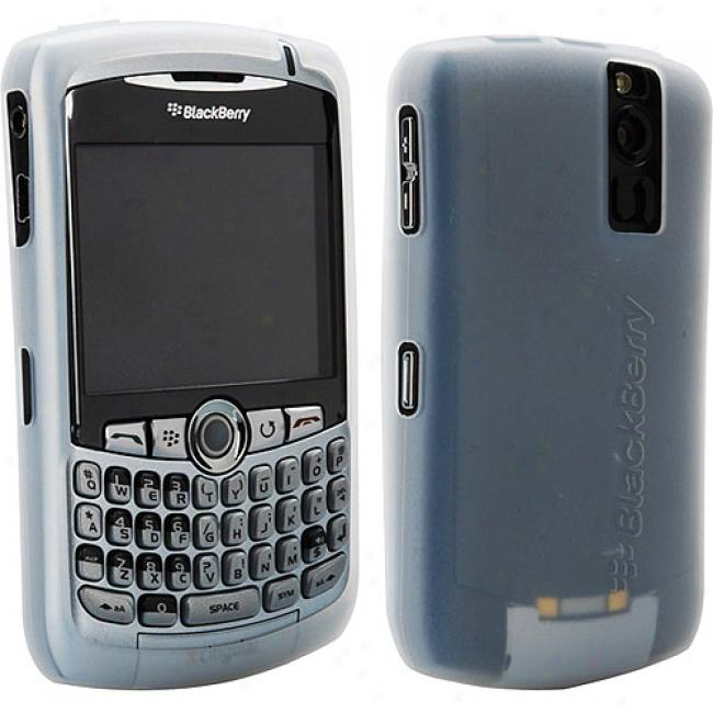 Blackberry Rubber Skin Case For 8300 Series - White