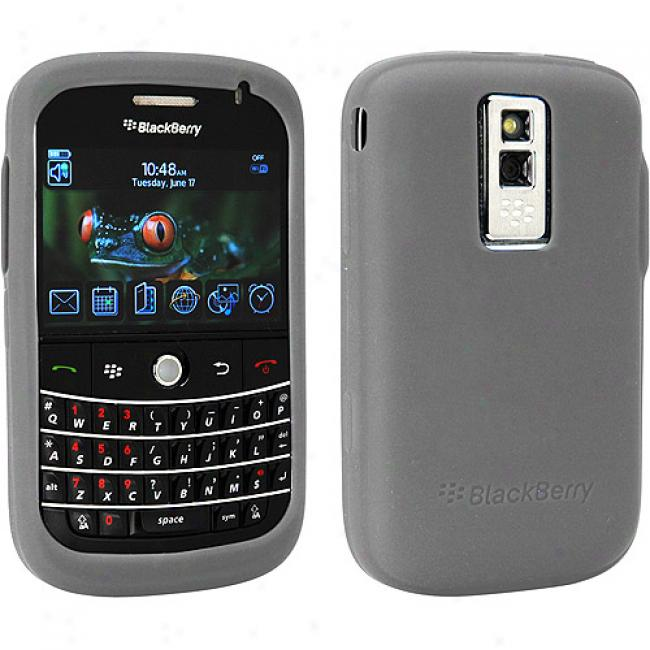 Blackberry Rubber Skin Case Against Bold 9000 - Gray