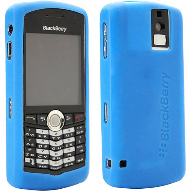 Blackberry Rubber Skin Case For Pearl 8100 - Blue
