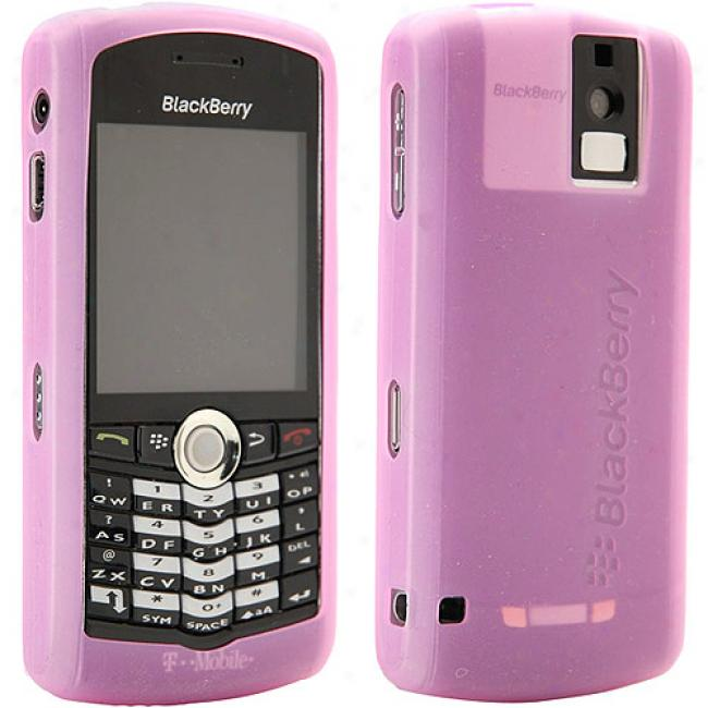 Blackberry Rubber Skin Case For Pearl 8100 - Pink