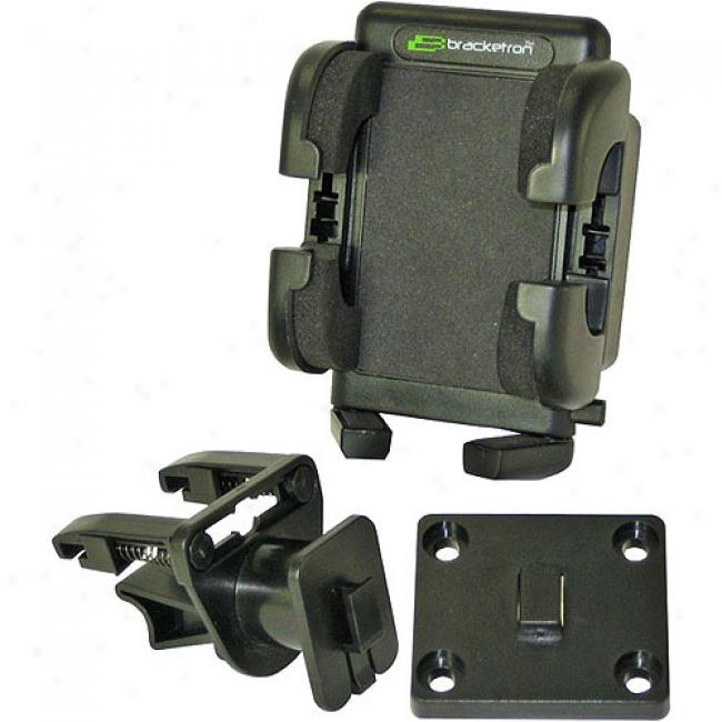 Bracketron Mobile Grip-it Emblem Holder W/ Rotating Vent Mount