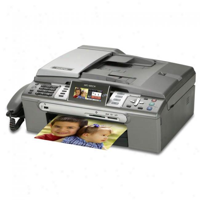 Brother - Color Flatbed Inkjet Multi-function Center With Networking, Mfc-685cw