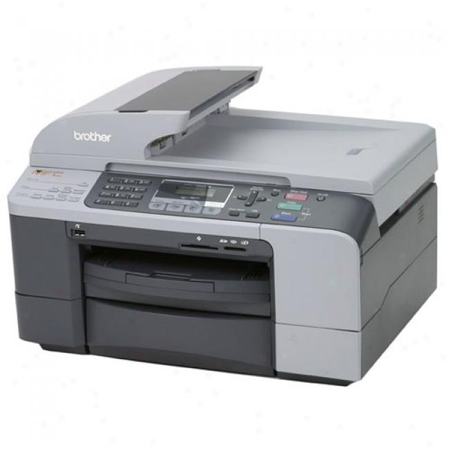 Brother - Color Inkjet All-in-one With Dual Paper Trays, Mfc-5860cn
