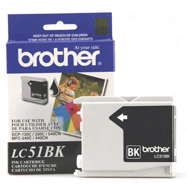 Brother Lc51bk Black Ink Cartridge