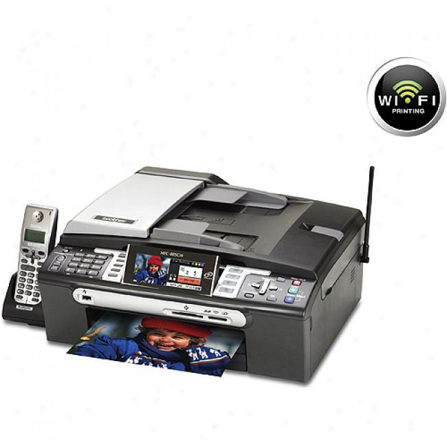 Brother Mfc885cw Photo Color All-in-one With Wireless Networking Printer, Copier, Scanner And Fax With A 5.8ghz Cordless Phone