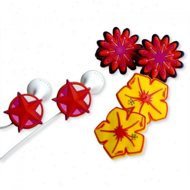 Budclicks Star Power, Retro Star & Yellow Hibiscus, 3-pack