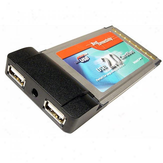 Cables Unlimited - 2 Port Usb 2.0 Cardbus Card Nec Chipset