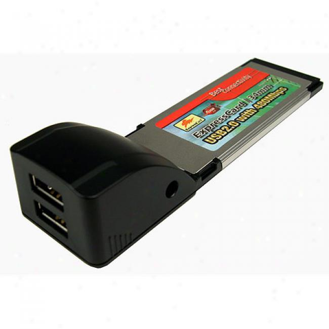 Cables Boundless 2-port Usb 2.0 Expresscard 34mm