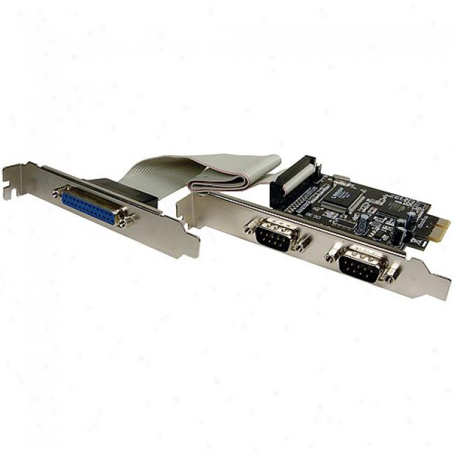Cables Unlimited - 2 Serial And 1 Parallel Port Pci Express Card