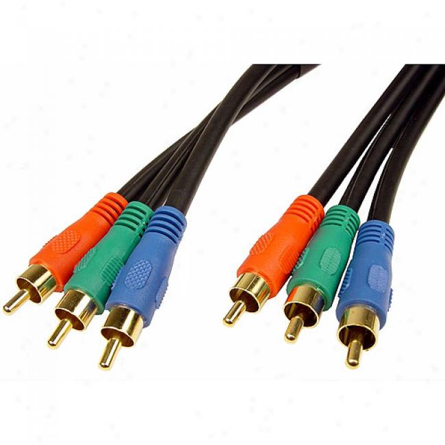 Cables Unlimited 3 Rca To 3 Rca Male To Male Constituent Video Cable - 6 Feet