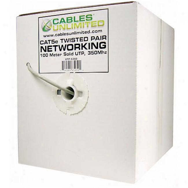 Cables Undefined - 328' Utp Cat5e Solid Cable