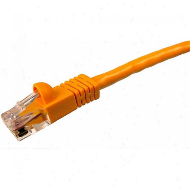 Cables Unlimited - 50' Cate5 Snagless Patch Cable, Orange