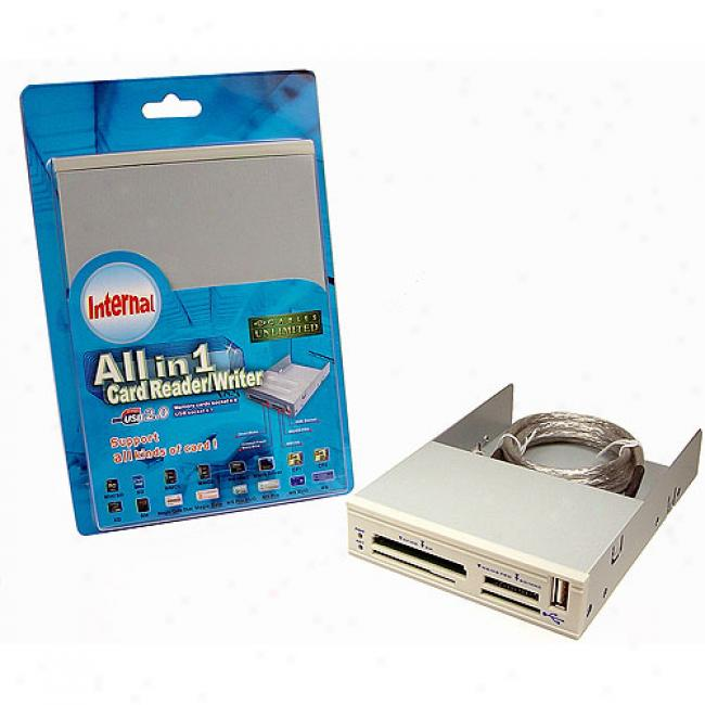 Cablees Unlimifed - All-in-one 3.5 Inch Internal Card Reader With Usb 2.0, Beige