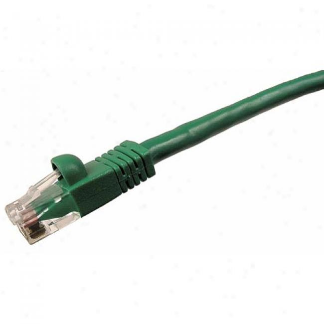 Cables Unlimited - Cat5e 14' Snagles sPatch Cable, Green