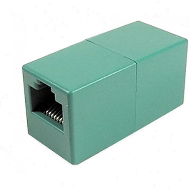 Cables Boundless - Cat5e Rj45 Crossoved Coupler, Turquoise
