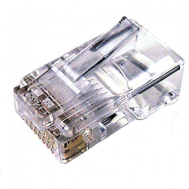 Cables Unlimited - Rj45 50-pack Stranded Connectors, Gray-haired