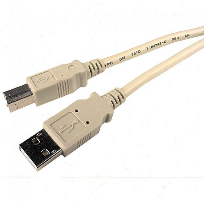 Cables Unlimite - Usb 2.0 A To B Cable, 15' Feet, Beige