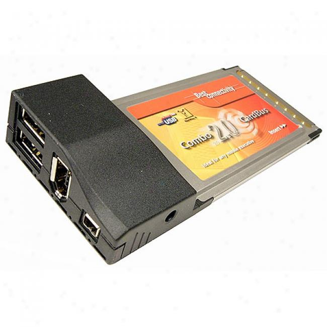 Cables Unlimited Usb 2.0 And Firewire 1394a Cadbus Card