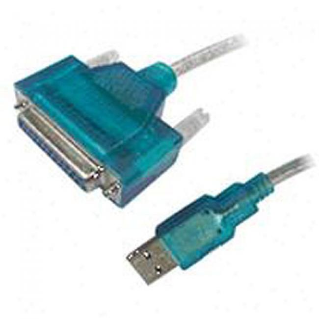 Cables Unlimited Usb To Parallel 6' Db25 Female Printer Cable