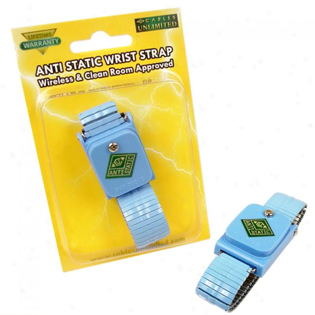 Cables Unlimited - Wireless Clean Room Approved Anti Static Wrist Strap