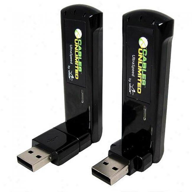 Cables Unlimited Woreless Usb Kit W/ Transmitter, Receiver & Base