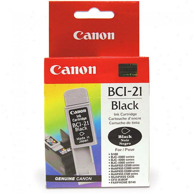 Canon Bci-21 Black Ink Tank, Bci21blk