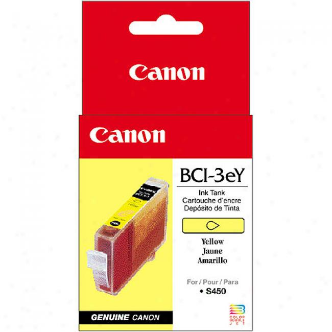Canon Bci-3ey Yellow Ink Cartridge, 4482a003