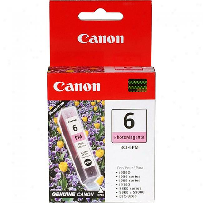 Canon Bci-6pm Photo Magenta Ink Cartridge, 4710a003