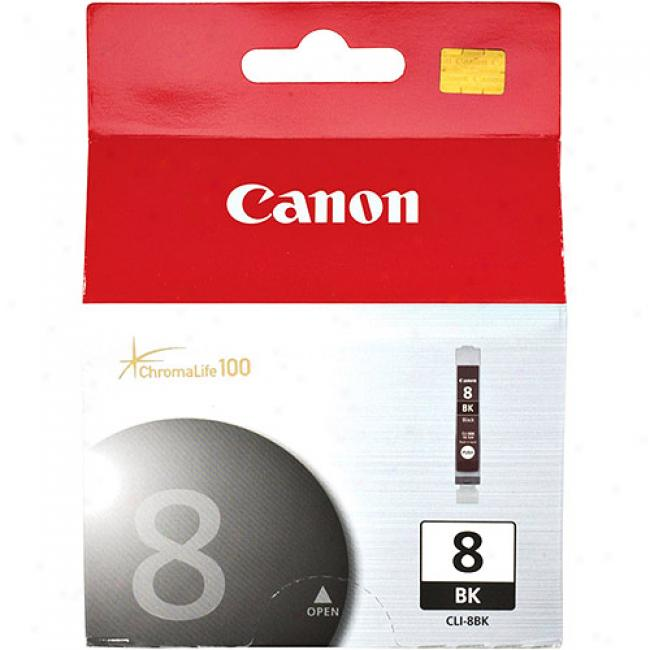 Canon Cli-8bk Black Ink Cartridge, 0620b002