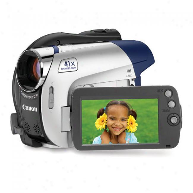 Canon Dc310 Dvd Camcorder W/ 37x Optical Zoom & Sd Mejory Card Slot