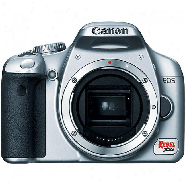 Canon Digital Rebel Xsi Silver 12.2mp Digital Slr W/ 3