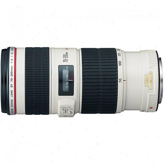 Canon Ef 70-200mm F4l Is Usm Telephoto Zoom Lens With Optical Image Stabilizer
