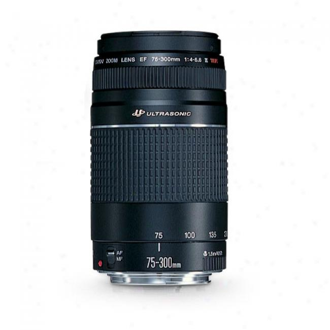 Canon Ef 75-300mm F/4-5.6 Iii Usm (ultra-sonic Monitor) Tslephoto Zoom Lens