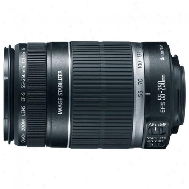 Canon Ef-s 55-250 F/4-5.6 Is Optical Image Stabilizer Telephoto Zoom Lens