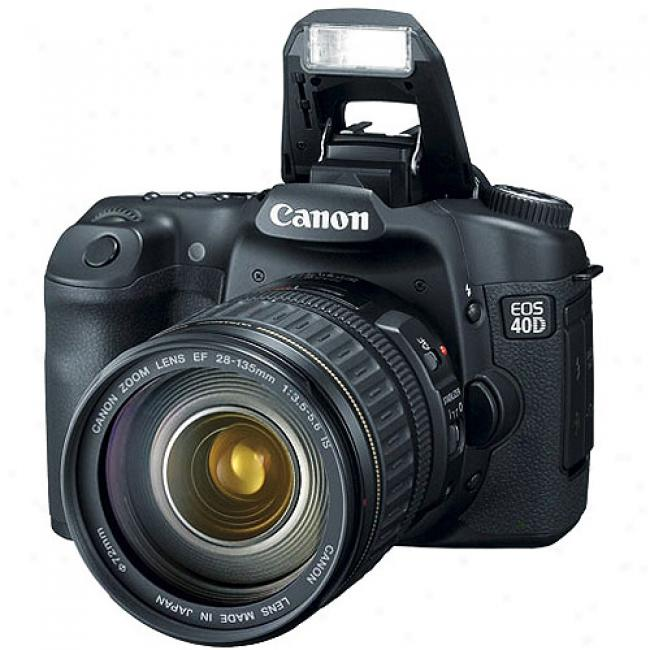 Canon Eos 40d 10.1 Mp Digital Slr Camera Kit W/ Ef 28-135mm Lens