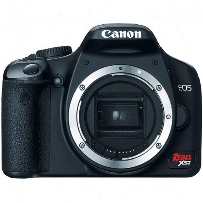 Canon Eos Digital Rebel Xsi Black 12.2 Mp Digital Slr Camera - Bodg Solely -